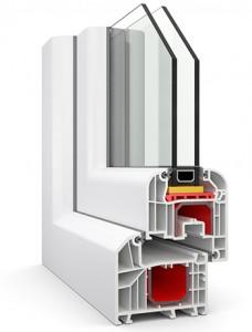 Kunstofffenster weiß Isolierglas